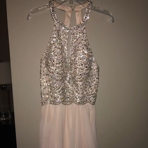 lulus pink bedazzled dress